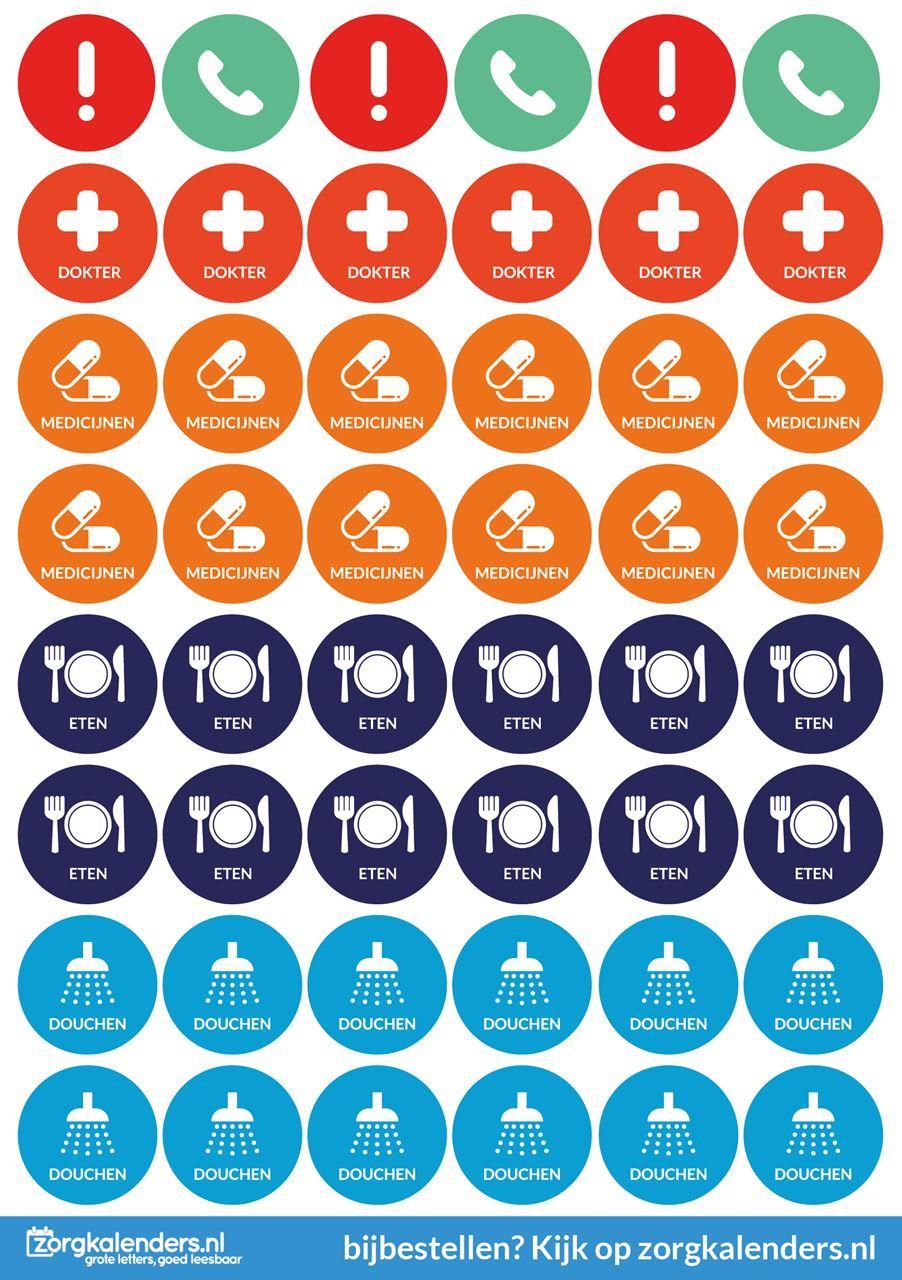 Standaard set sticker vellen