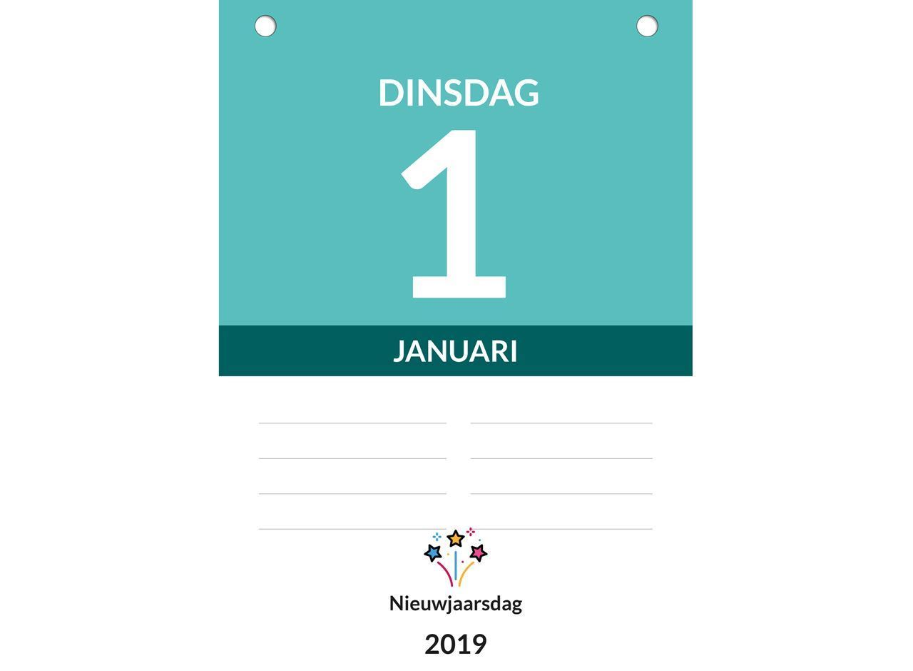 Dagkalender A5, scheurkalender, inhoud