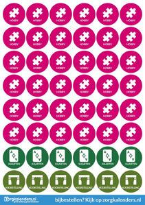 Stickervellen Hobby/Kaarten/Voorstelling