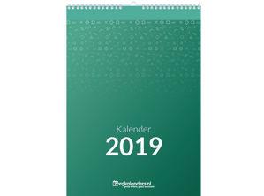 Dagkalender A4, met ophang haak, voorbeeld voorzijde 2019