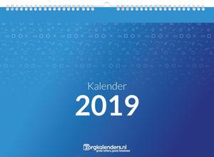 Dagkalender A5, met ophang haak, voorbeeld voorzijde 2019