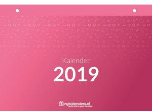 Dagkalender A4, scheurkalender, voorbeeld voorzijde 2019