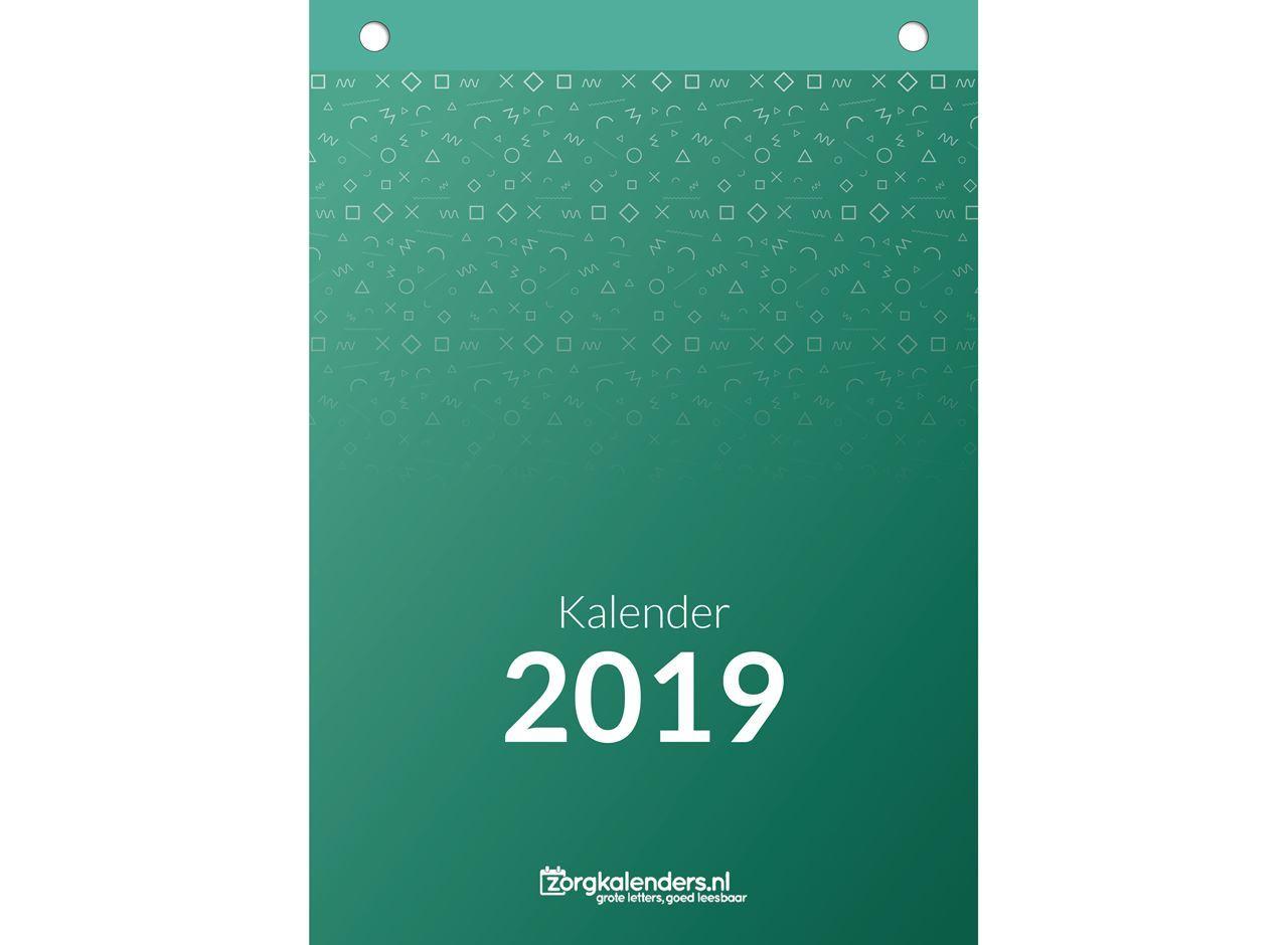 Weekkalender A5, scheurkalender, voorzijde