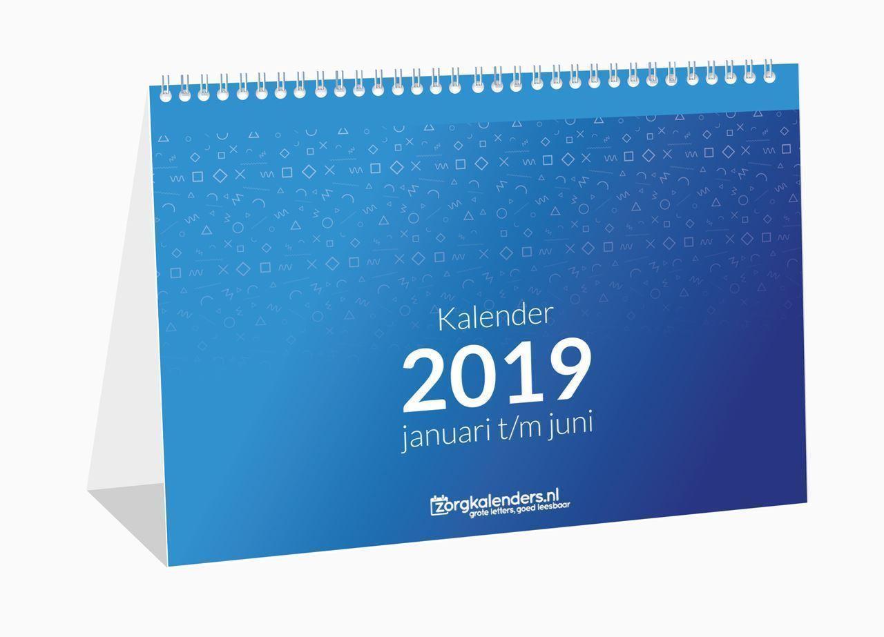 Bureau weekkalender, voorbeeld omslag 2019