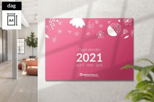 Afbeelding van Dagkalender A4 liggend scheurkalender (2021)
