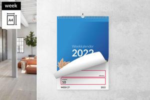 Weekkalender A4 staand met ophang haak